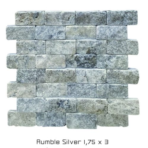 Rumble Silver Ledger Stone Tiles from Harmony Stone