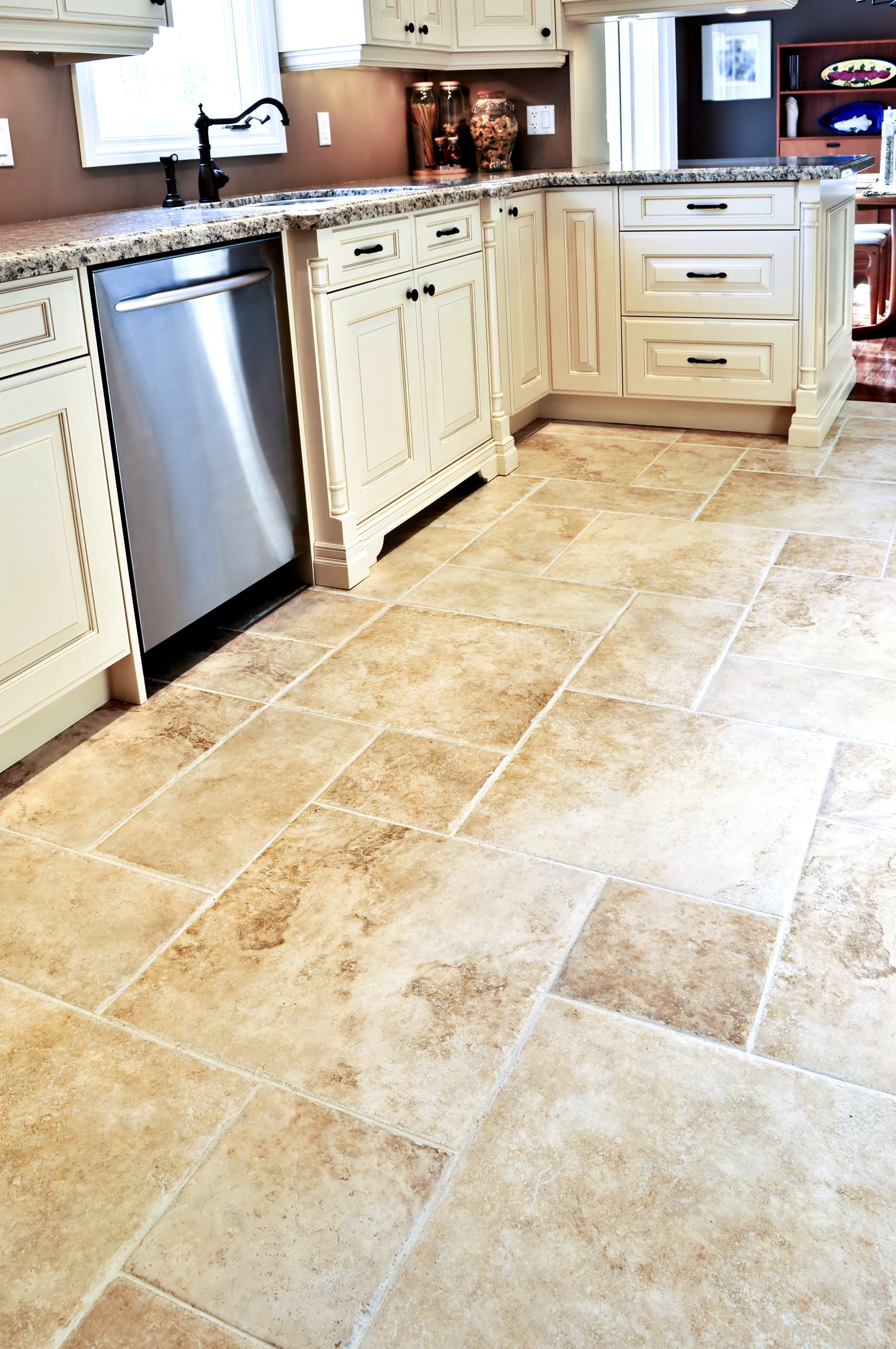 how to install french pattern travertine tiles