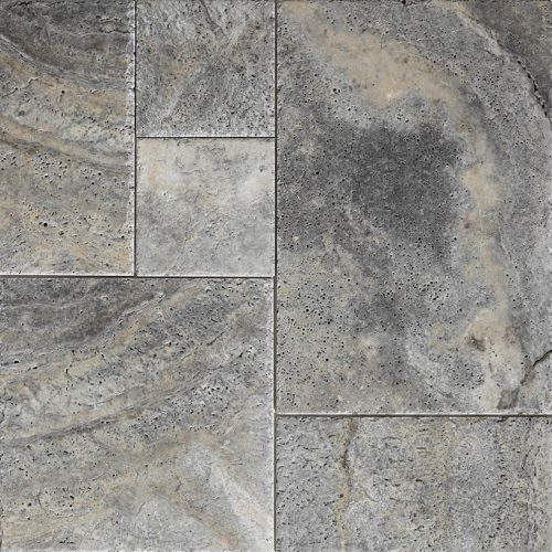 silver-travertine-brushed-french-pattern